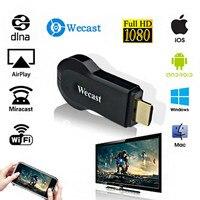Wecast C2 + Miracast DLNA Wireless WiFi Display TV Dongle compatibile con HDMI Streaming Media Player supporto Mirroring