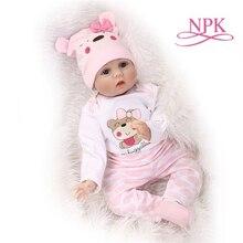 NPK 22'' Reborn Baby Doll Clothes Fashion Style Silicone Reborn 50-55cm Bebe Doll Accessories For Kids DIY Dolls