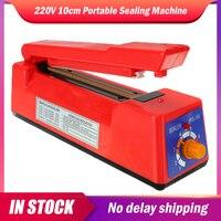 220V 10cm Tragbare Abdichtung Maschine Lebensmittel Vakuum Verpackung Maschine Kunststoff Tasche Automatische Elektrische Wärme Manua Sealer Küche Werkzeug