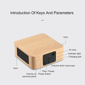 Image 5 - Bluetooth Wooden Bass Speaker Mini Wireless Subwoofer Portable Bass Column For Mobile Phone