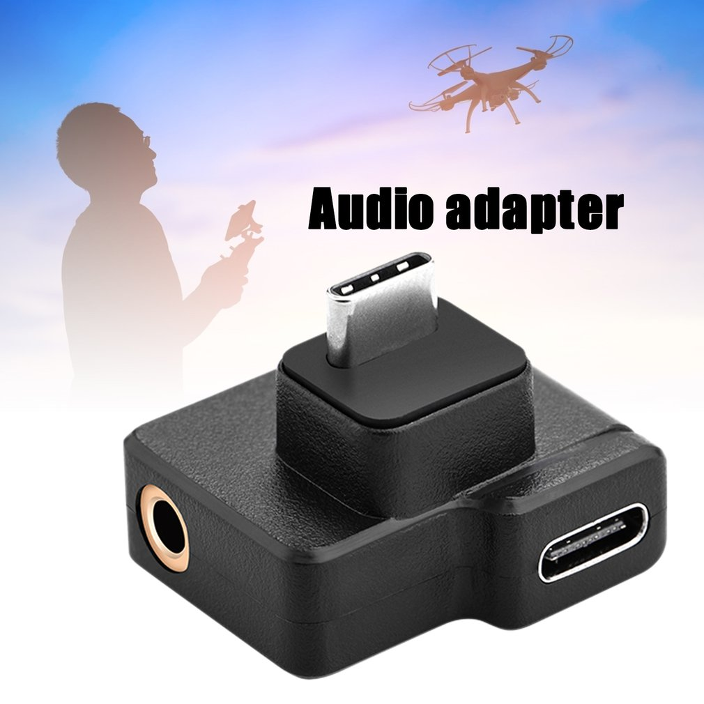 Dual USB-C Adapter Action Camera Sound Data Transmission Earphone Adapter Microphone Speaker Computer Sound