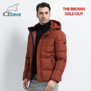 Image 2 - 2019 neue Winter herren Jacke Hohe Qualität Mann Mantel Mit Kapuze Männliche Kleidung Casual männer Baumwolle Kleidung Marke Bekleidung MWD19601D