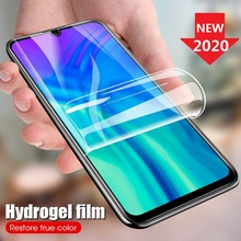 Protective Hydrogel Film for Huawei Y9 Prime 2019 Y9s Screen Protector Huawei Y5 Y6 Y7 Prime Pro 2019 2018 (Not Glass) Film Foil 9d glass for huawei y7 y9 2018 protective glass for huawei y9 2019 y9 prime y7 prime 2019 jkm lx1 p smart z screen cover film
