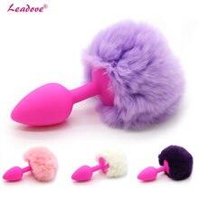 Silicone coelho cauda anal plug mini produtos de sexo jogos butt plug ânus expansão erotico acessórios brinquedos sexuais para mulher gs0100
