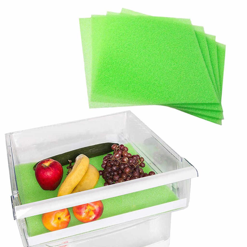4pc frutas & legumes vida extensor forro para geladeira gavetas 3mm esteira de mesa da cozinha geladeira evitar deterioração novo