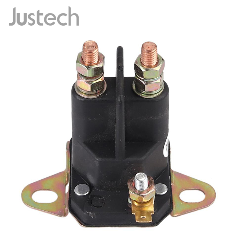 Justech Universal Magnetic Switch Starter Relay 12V 3 Connections Lawnmower Ride-on Mower Lawn Tractor For Ariens Amf Murray MTD