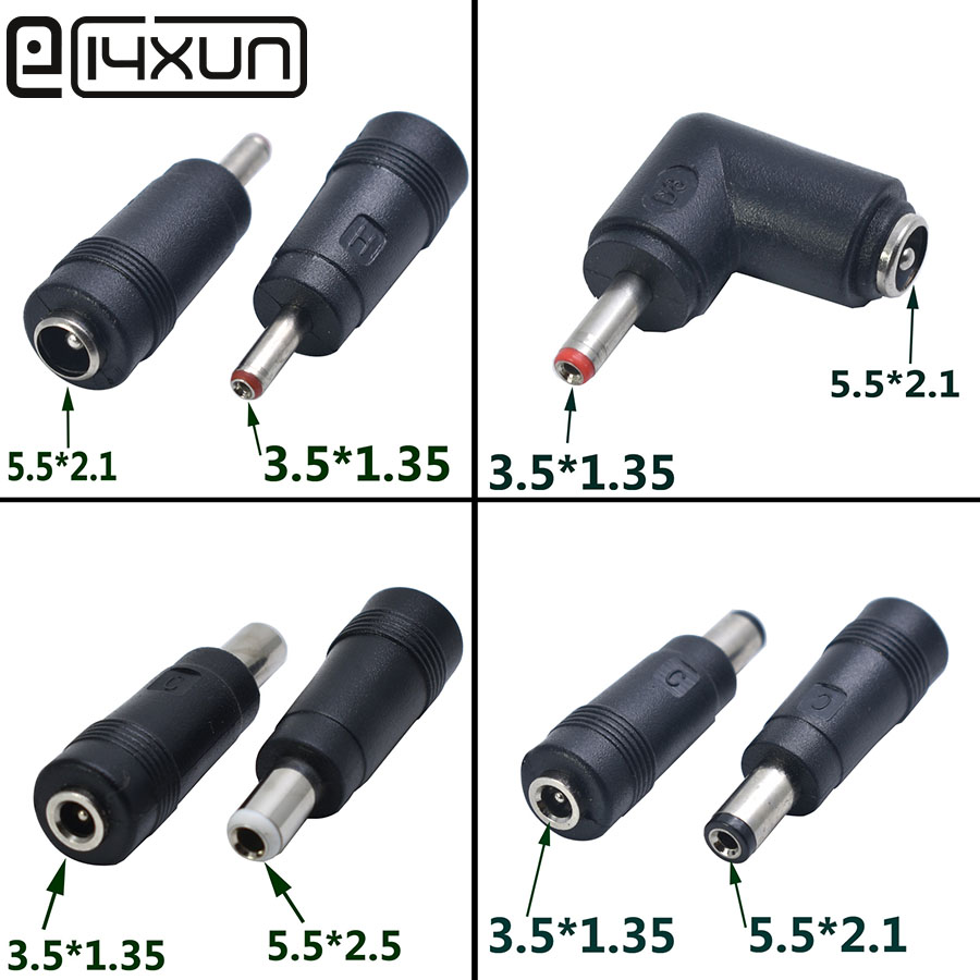 1pcs 5.5 X 2.1/2.5 Mm Male/female To 3.5 X 1.35 Mm Male/female DC Power Connector Adapter Laptop 5.5*2.1/2.5 To 3.5*1.35mm
