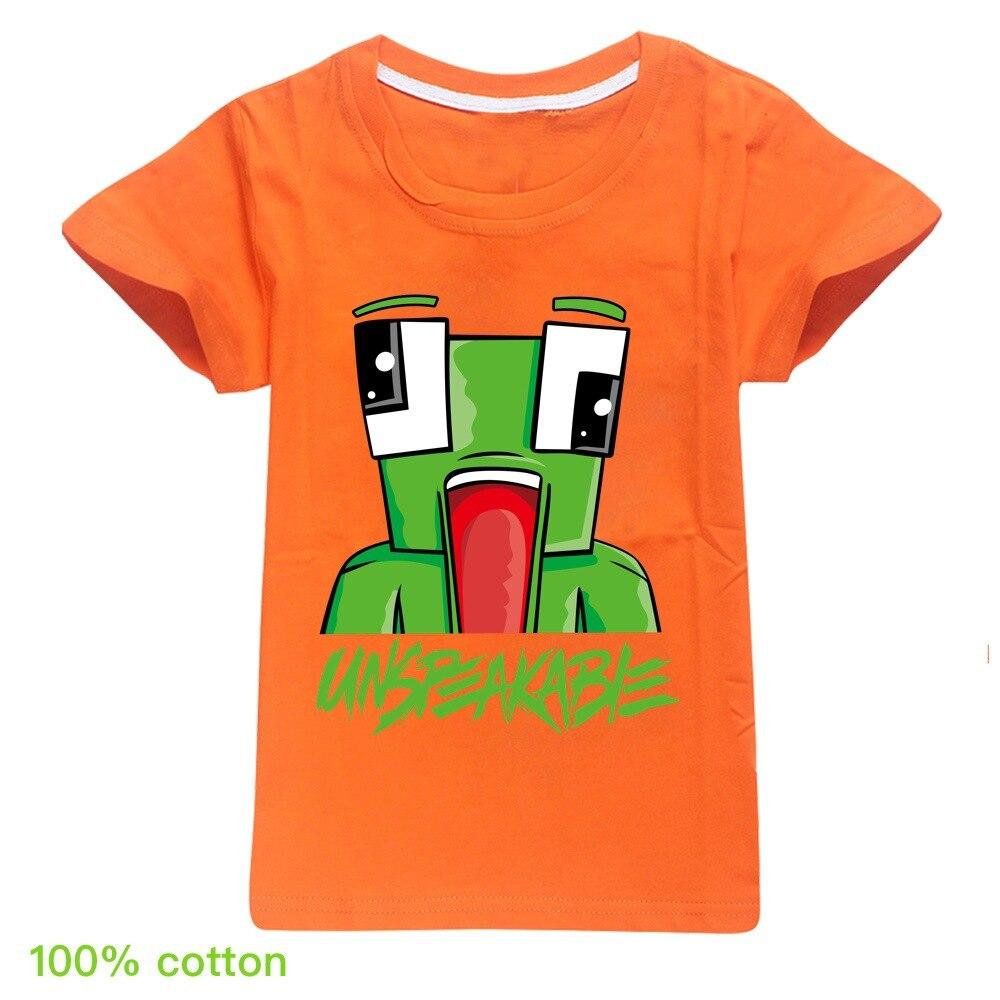 Summer Unspeakable Inspired Youtube Boys T-Shirts Gaming Kids sweatshirt T-Shirt For Girls Tops Tees Children Clothing 4
