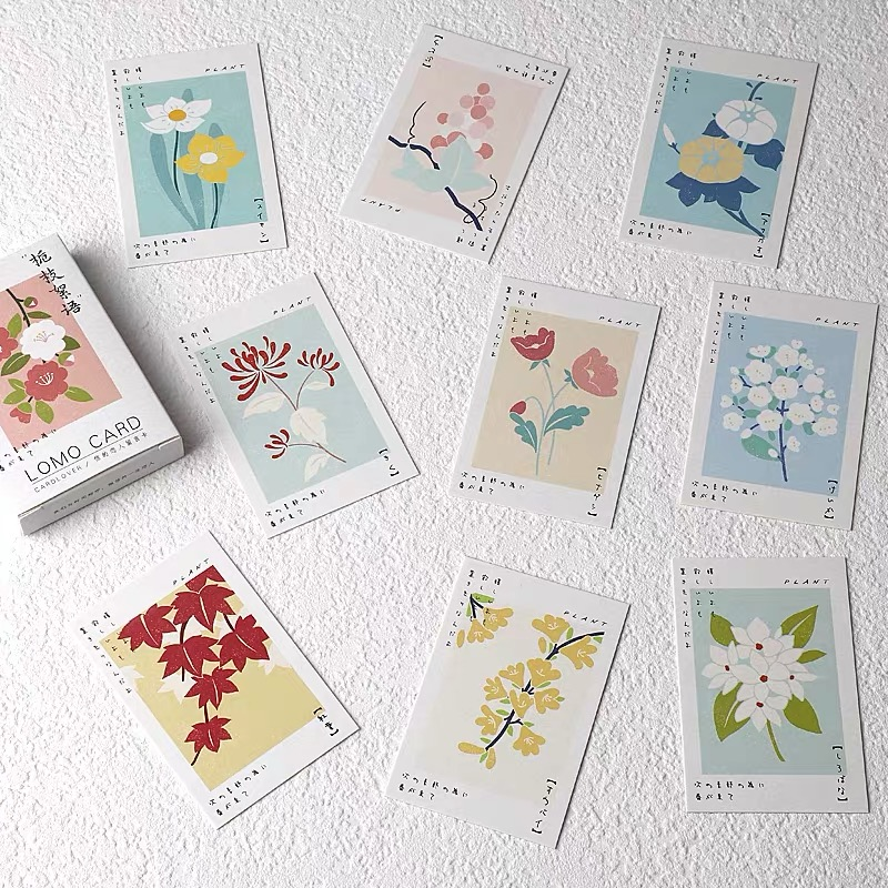 28 Sheets/Set Flower Branch Plant Series Lomo Card Mini Postcard DIY Greeting Card Birthday Gift Card 52*80 Mm
