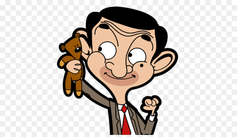 <font><b>cartoon</b></font> mr. bean Playing teddy bear funny sticker Personality skateboard DIY Home Decoration interior wall stickers waterproof image