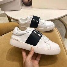 2021 novo designer de couro masculino tênis plus size 43 44 respirável marca luxo branco sapatos vulcanizados zapatillas hombre er42