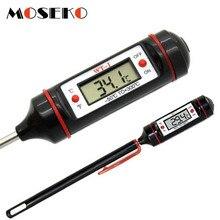 Termómetro Digital portátil MOSEKO para cocina, termómetro para barbacoa, carne, agua, aceite, cocina, sonda electrónica, WT-1 de termómetro para horno de alimentos con tubo
