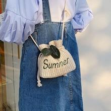 цена на Women Bag New 2019 Summer Crossbody Bag Small Bag Casual Women's Shoulder Bag Straw Bag
