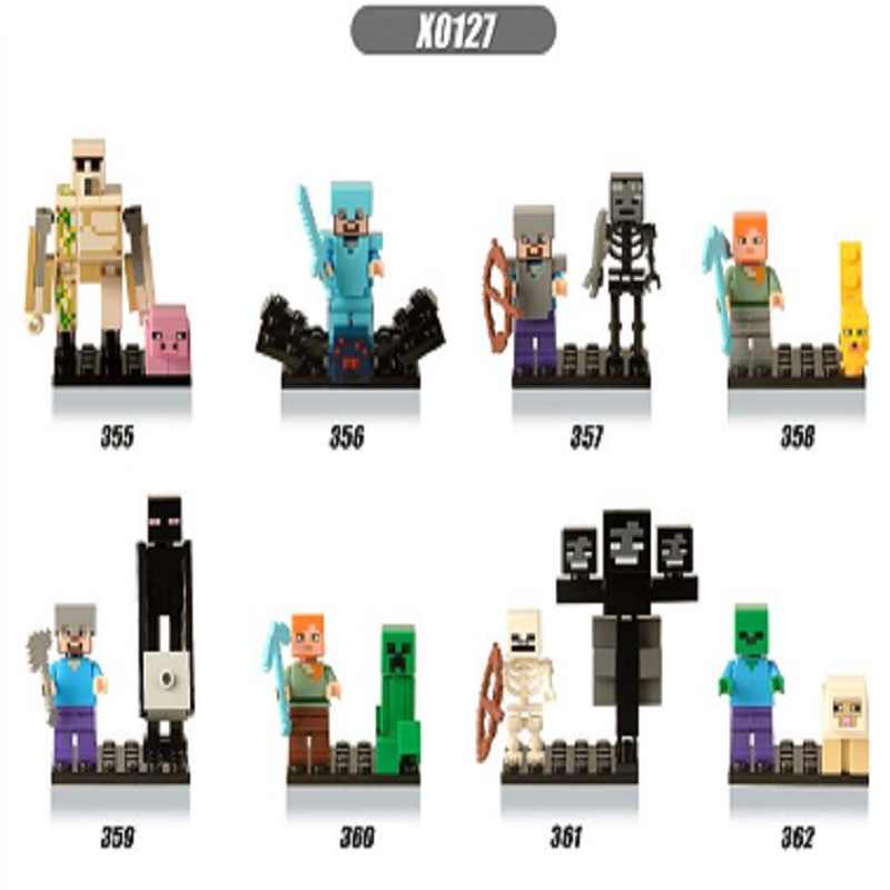 X0127 Single Sale My DIY Super Heroes Bricks Style Mine Mini  Building Blocks Bricks Figures For Children World Toys