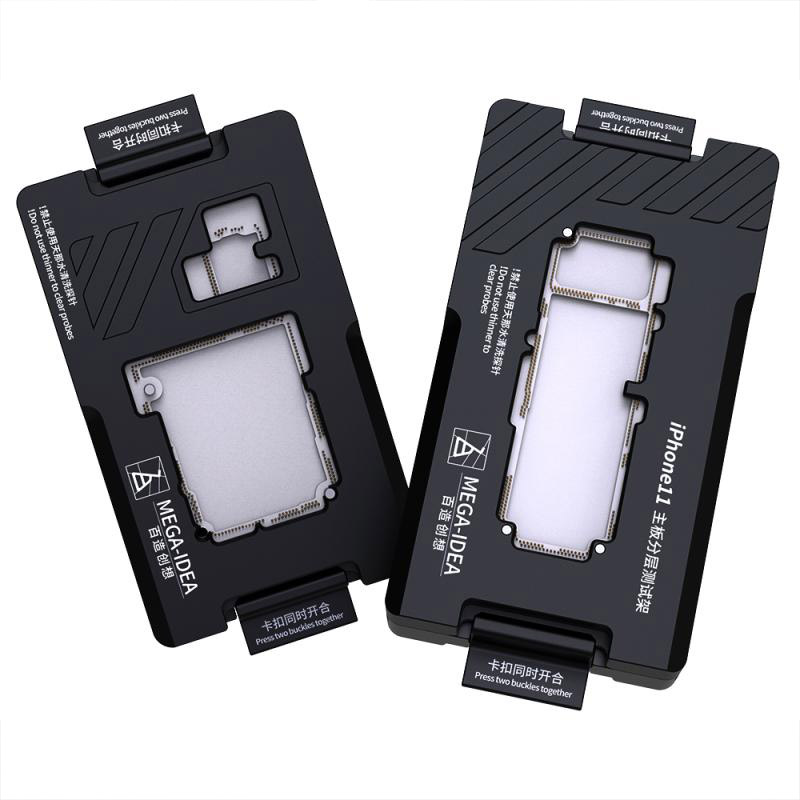 Qianli Mega-idea IPhone X-11ProMax Motherboard Fixture ISocket Jig Logic Board Fast Test Fixture Holder For Mainboard Repair