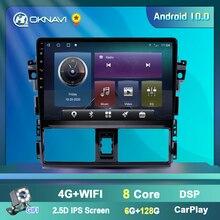 OKNAVI Toyota Vios 2014 için 2015 2016 oto araba radyo 2Din Android 9.0 10 inç multimedya oynatıcı desteği ayna bağlantı DVR OBD