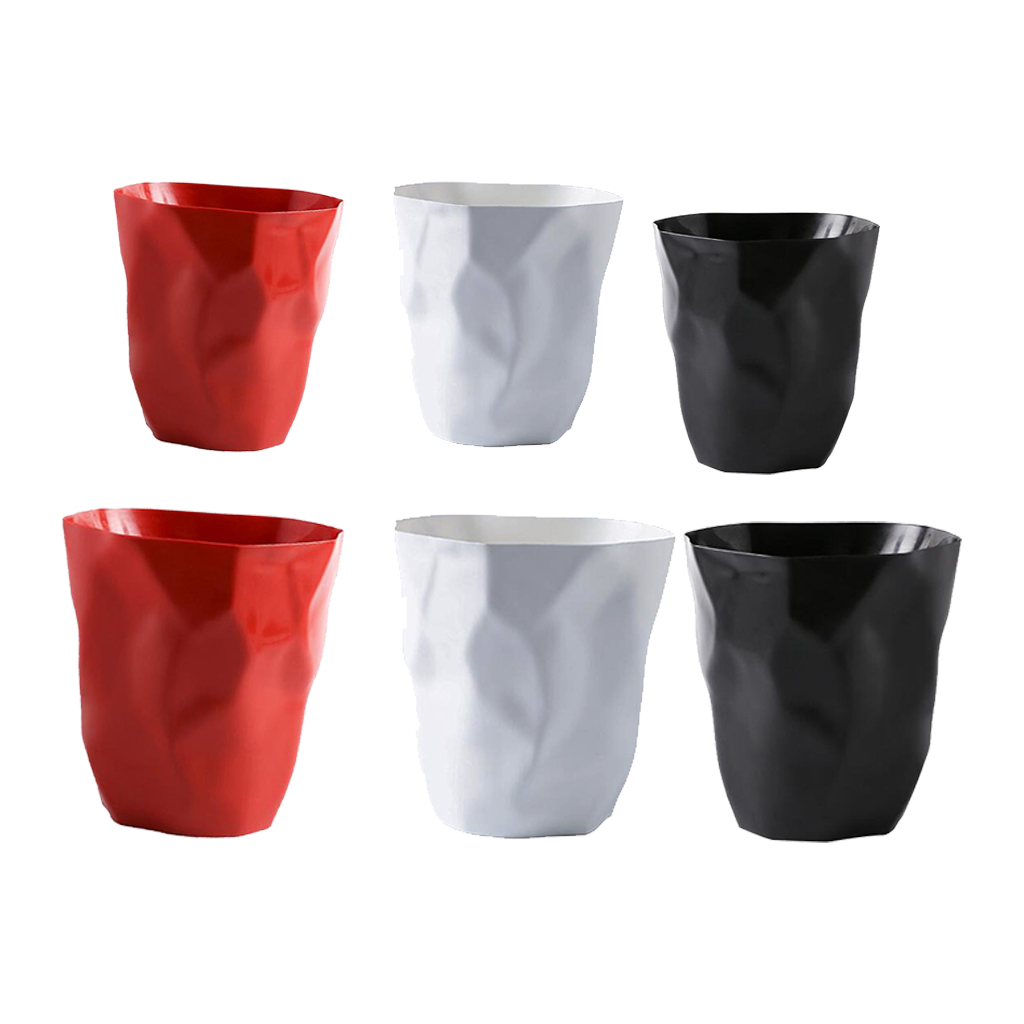 Creative Wrinkle Trash Can Personalized Plastic Wastebaskets Garbage Bin