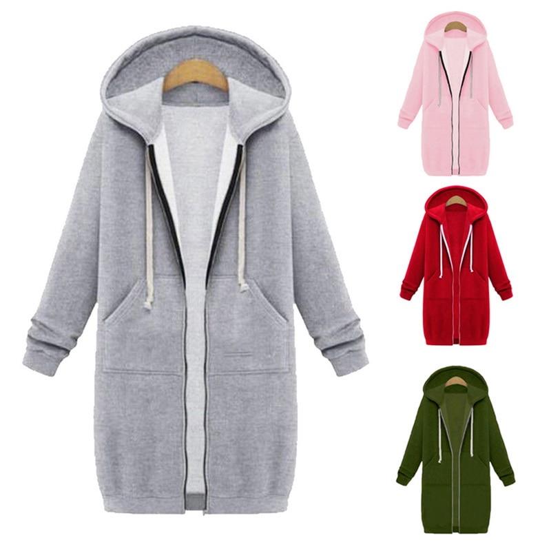 Women Hoodies Sweatshirts Autumn Winter Plus Size Long Sleeve Pocket Pullover Hoodie Female Casual Warm Hooded Sweatshirt