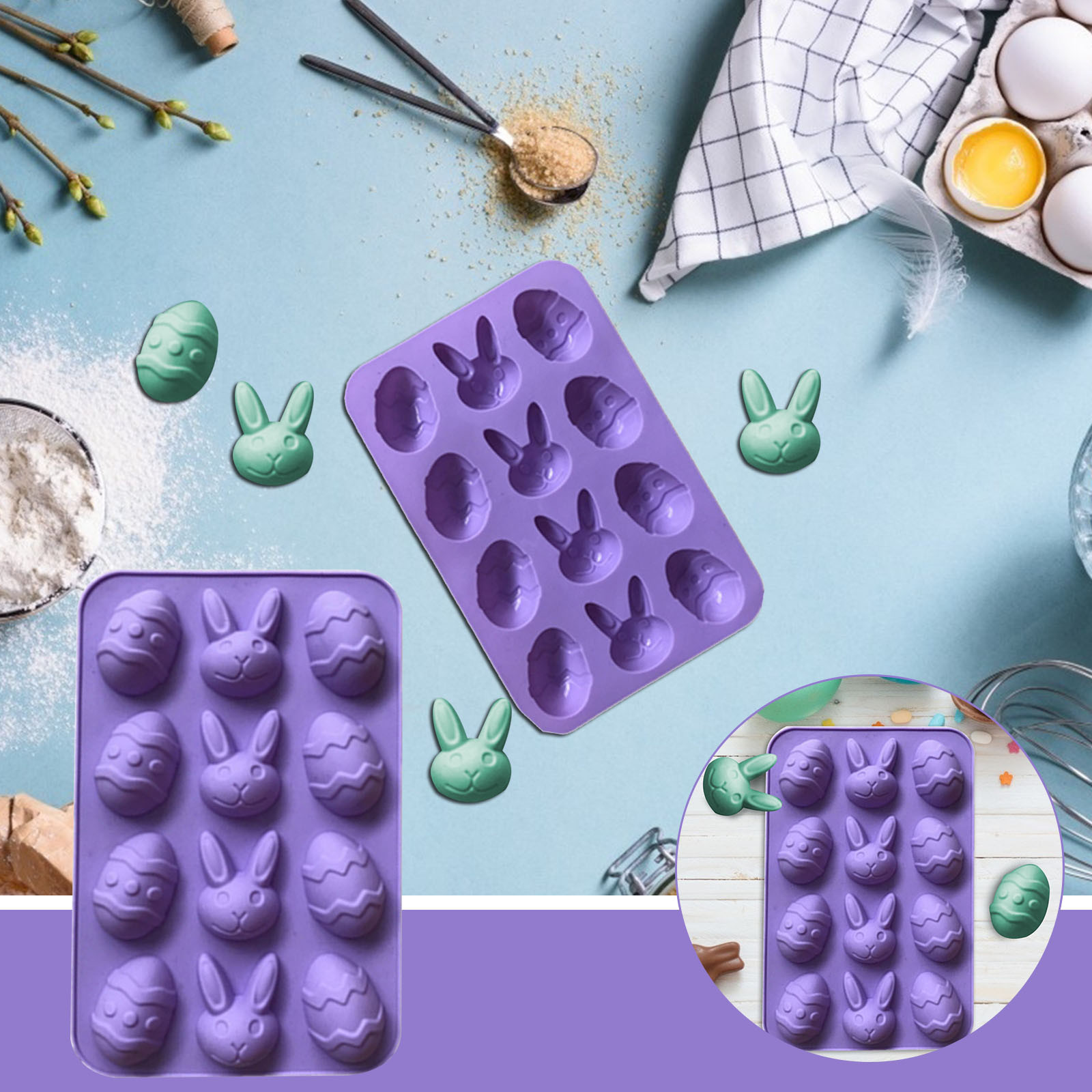 Casual Carrot Vegetables Silicone Mold Decoration tools Clay Push Mould  PM