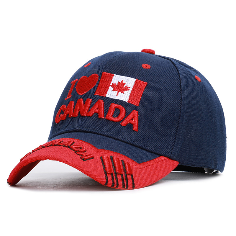Dad Hat  Spot 5 Models Of Canadian Flag Maple Leaf Embroidered Baseball Cap Letter Canada Male And Female Outdoor Sunshade
