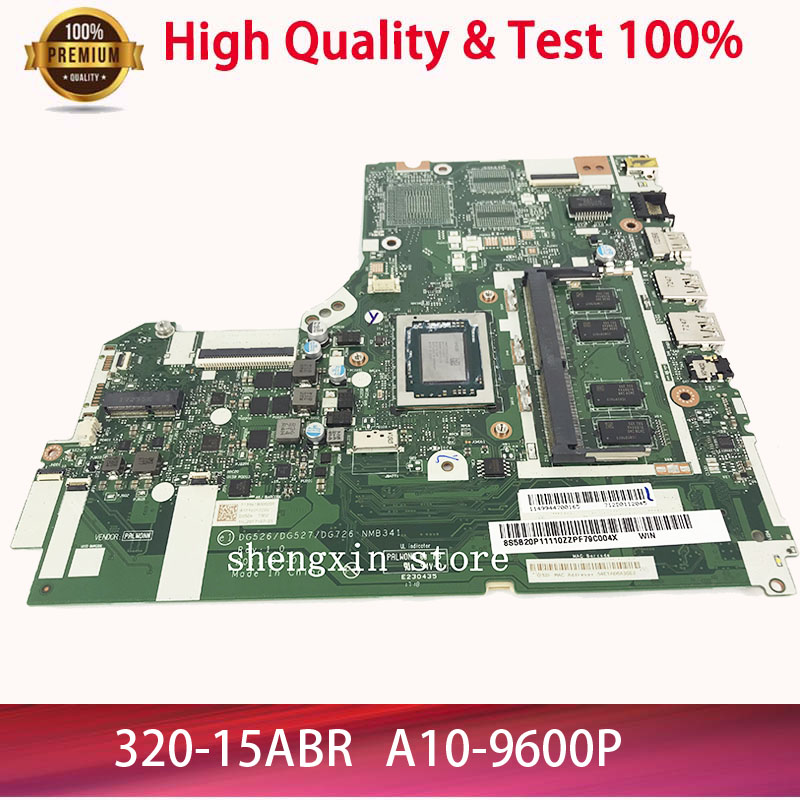 NEW Laptop <font><b>Motherboard</b></font> For <font><b>Lenovo</b></font> <font><b>IdeaPad</b></font> <font><b>320</b></font>-15ABR DG526 DG527 DG726 NMB341 NMB-341A10-9600P Mainboard test 100% image