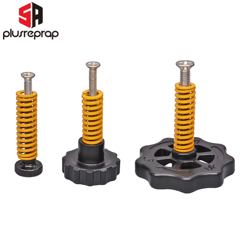 4PCS M3/M4 Screws Nuts Heat Bed Leveling Spring Knob Parts 3D Printers Print Platform Screw Calibration Accessories