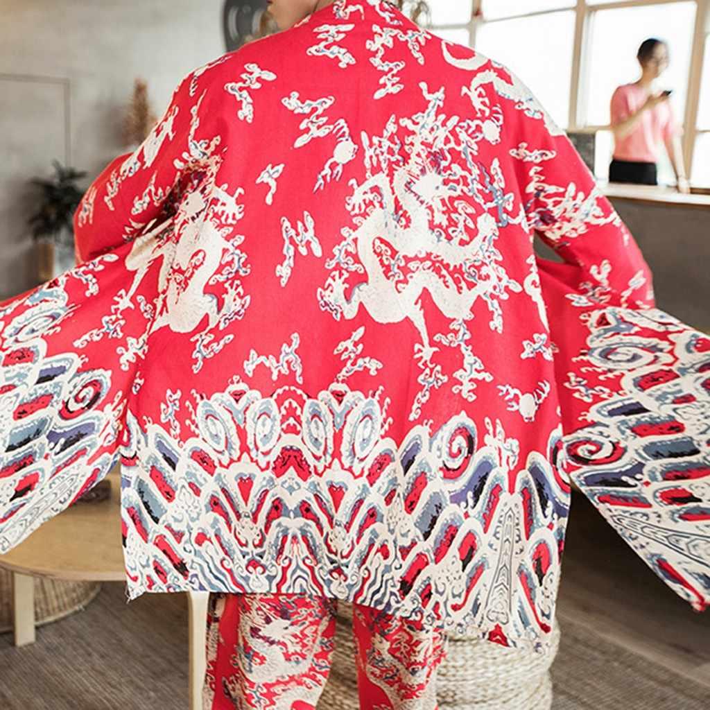 Inverno 2019 Nuovo Stile Per Gli Uomini In Autunno E In Inverno di Grandi Dimensioni Stampato Vintage Cardigan Cappotto Dropshipping lavoro Per Il Tempo Libero stile