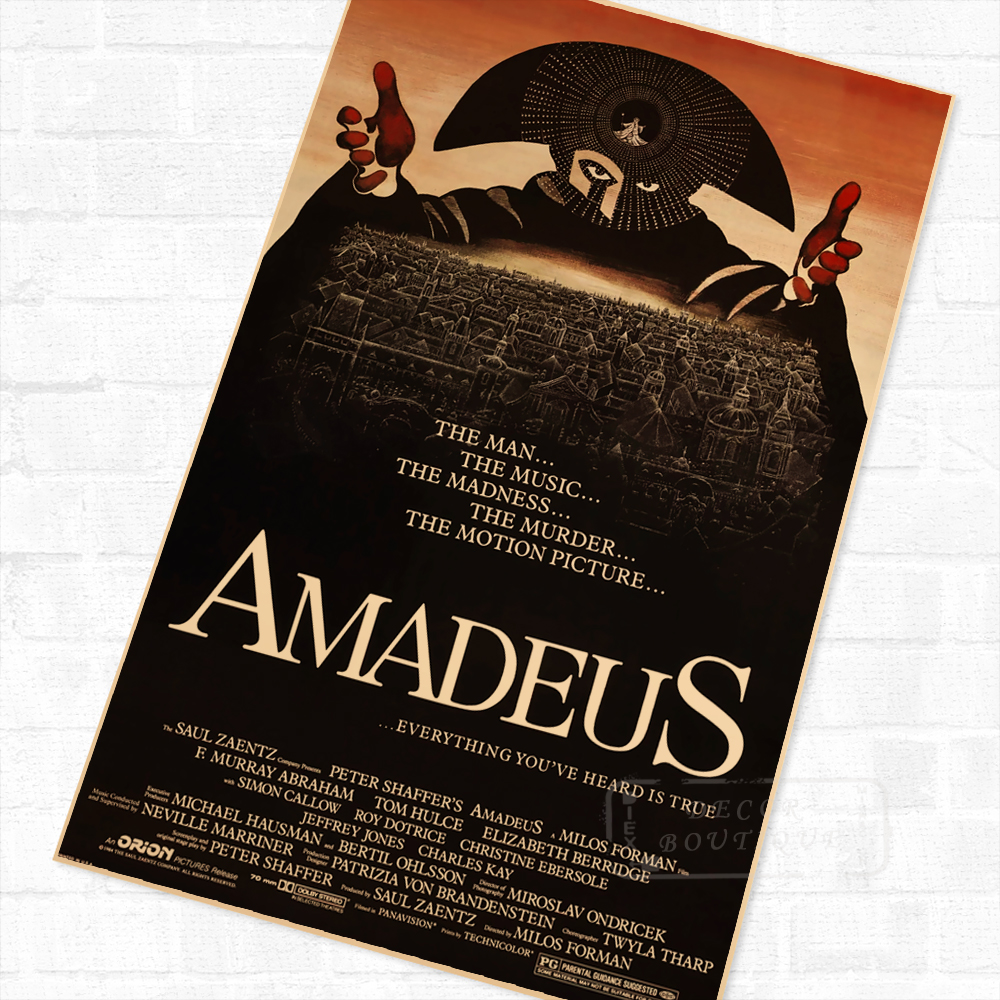 Amadeus Movie Film Classic Poster Vintage Retro Decorative DIY Wall Canvas Painting Stickers Home Posters Art Bar Decor Gift