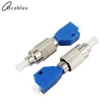 Gratis Verzending LC Vrouw naar FC Mannelijke LC FC SM 9/125 Hybrid Adapter Optische Adapter