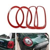 Mini Cooper F54 Clubman-faro delantero y trasero para Exterior, lámpara de luz trasera, moldura de cubierta de marco rojo