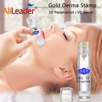 Alileader Face Lifting Skin Care Tools Anti Wrinkles Gold Derma Roller Needle Skin Tightening Machine Face Slimmer 0.6MM Needle
