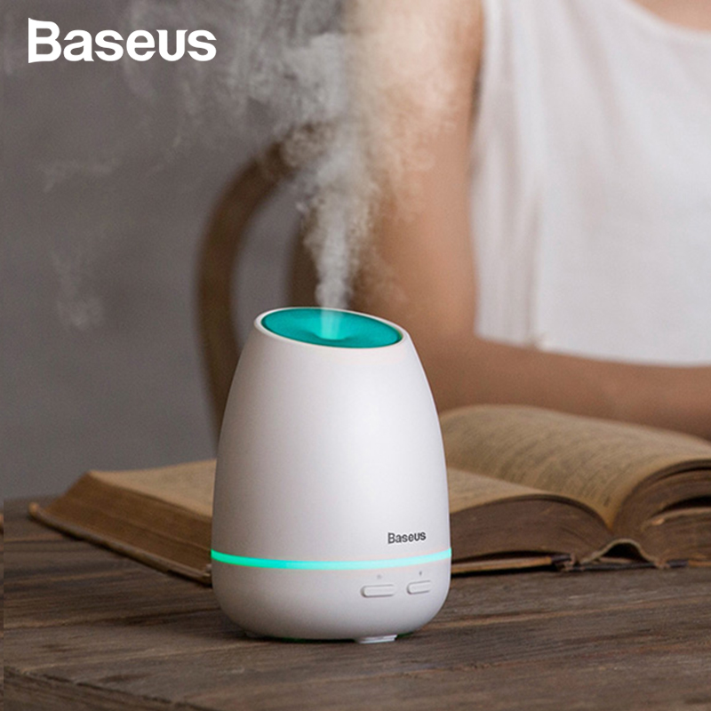 Baseus Humidifier Aroma Diffuser Aromatherapy Essential Oil Diffuser For Home With Colorful Light Smart USB Diffuser