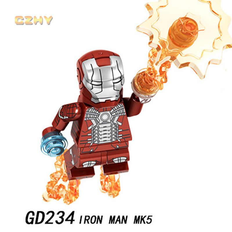 مصابح الرجل الحديدي MK85 ليجوانجليز الرجل الحديدي توني ستارك مارك MK22 MK41 MK50 آلة الحرب المنتقمون مينيفكت اللبنات GD231