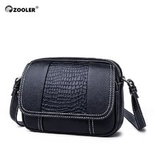 2019 fashion girl leather bags women hot ZOOLER Cow leather clutch bag women shoulder messenger bag designer purse chains #LT233(China)