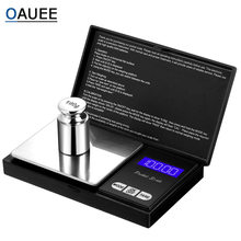 Oauee escala de bolso digital ouro jóias mini balança eletrônica de aço inoxidável grama balança peso portátil bolso escala
