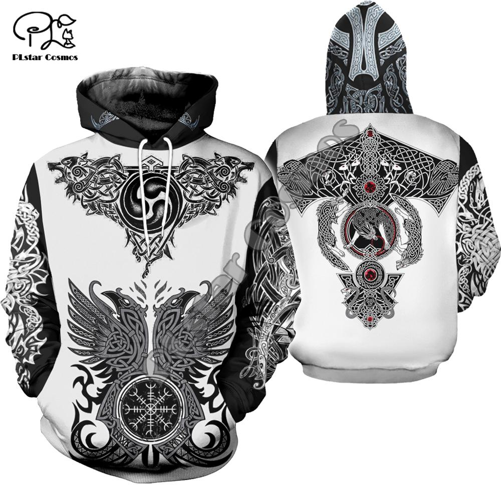 PLstar Cosmos Viking Warrior Viking Tattoo New Fashion Tracksuit casual 3DPrint zipper/Hoodie/Sweatshirt/Jacket/Mens Womens s-1
