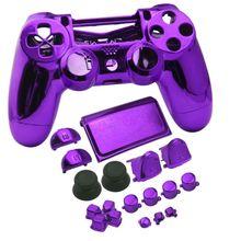 Para ps4 pro jdm 040 completa habitação caso chrome capa escudo substituição para ps4 pro playstation 4 pro jds 040 v2 controlador