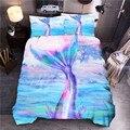 Комплект постельного белья в стиле океана с принтом русалки  Синий пододеяльник  пододеяльник  постельное белье