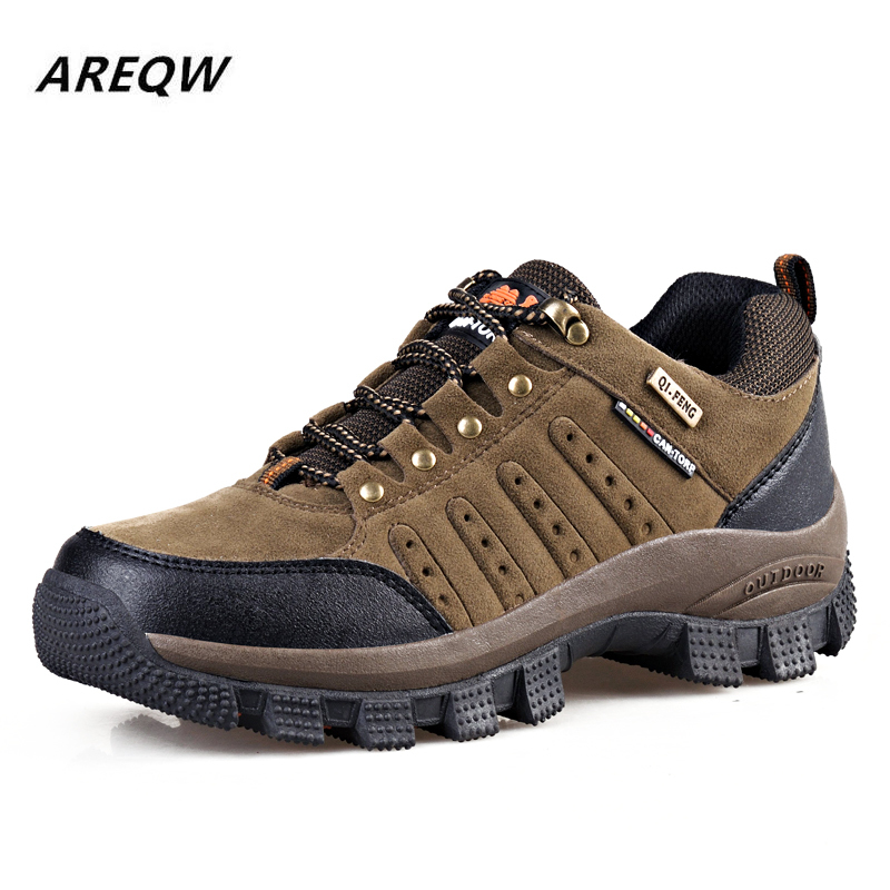 2019 Sneakers Outdoor Hiking Shoes Brand Breathable Hunting Boots Waterproof Men's Camel Shoes Mountain Climbing Boots