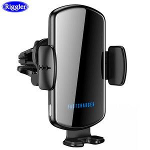 Image 1 - קול שידור אלחוטי רכב טלפון מטען 15W תשלום מהיר רכב מחזיק עבור iphone 11 פרו 11XS מקסימום עבור Huawei mate30pro P30 פרו