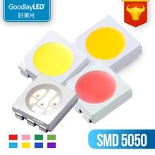 1000pçs 505 0 branco/branco quente/azul/verde/vermelho/amarelo/orangesmd PLCC-6 5050 smd led módulo led 60ma 24-26lm 0.2w