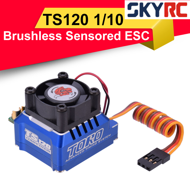 SKYRC TORO TS120 Brushless Sensored ESC Support Sensor Sensorless Brushless <font><b>Motor</b></font> For <font><b>1</b></font>:<font><b>10</b></font> <font><b>1</b></font>:12 RC Car Blue/Black/Gold image