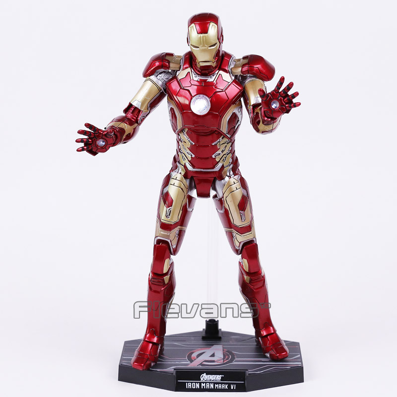 Marvel Avengers Iron Man MK 43 / MK42 PVC Action Figure Collectible Model Toy with LED Light