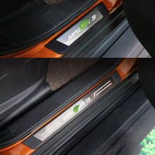 4PCS  Car-Styling Stainless Steel Door Sill Scuff Plate Protector Sticker For Mazda 3 Accessories 2006-2015 Car Accessories недорого