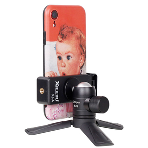 Image 5 - מיני טלפון חצובה שולחן Smartphone הר קליפ מחזיק Stand w נתיק Ballhead עבור iPhone X/8/7 בתוספת Huawei Xiaomi