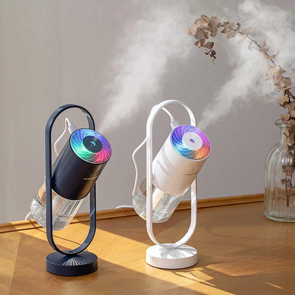 Yeni sihirli negatif hava USB nemlendirici 200ml ultrasonik uçucu yağ difüzör serin sis hava temizleyici ışıkları ev