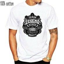2020 estate nuovo marchio uomo uomo Casual Fitness leggenda Premium dal 1985 33 ° compleanno T-Shirt divertente da uomo T-Shirt da 33 anni