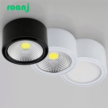 Dimmable surface mounted LED COB downlight AC85-265V 5w 7w 9w 12w 15w 18w LED ceiling light spotlight ceiling light 7w 12w 15w rail track light cob led track light high quality surface mounted led ceiling light ac85 260v warm white light