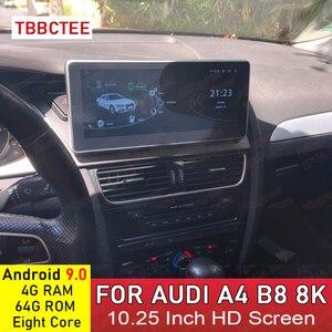Android 9,0 4 + 64G Автомобильный мультимедийный плеер для AUDI A4 B8 8K 2008 ~ 2016 MMI 2G 3G Android дисплей радио GPS навигация Сенсорный экран