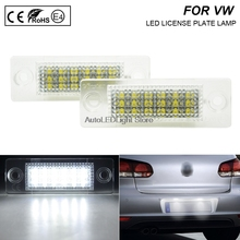 цена на 2X Error Free LED Number License Plate Light For VW T4 Transporter Passat Candy